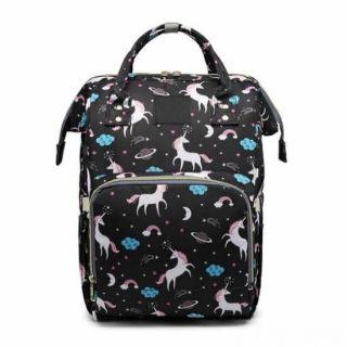 Сумка-рюкзак для мамы Единорог, Цвет: Чёрный