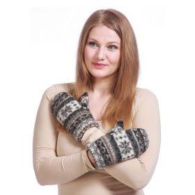 Варежки женские вязаные из Исландской шерсти 08438-14