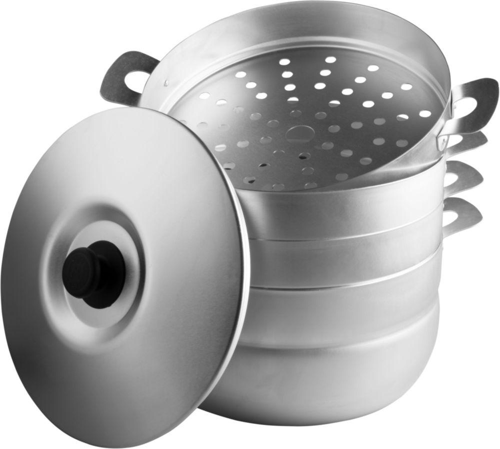 Мантоварка  алюминиевая 6,0 л, с 3 сетками (1) Манты-Казан Калитва 180635