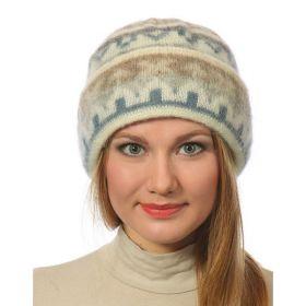 Шапка женская вязаная из Исландской шерсти 28210-32