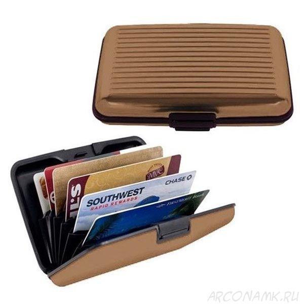 Кейс для кредитных карт Security Credit Card Wallet, Коричневый