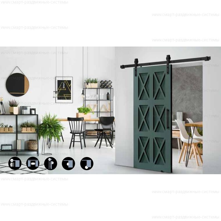 Комплект фурнитуры Roc Design THOR на 1 дверь без направляющей