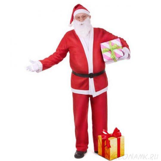 Костюм Санта Клауса с длинной шубой, Размер: 42-46