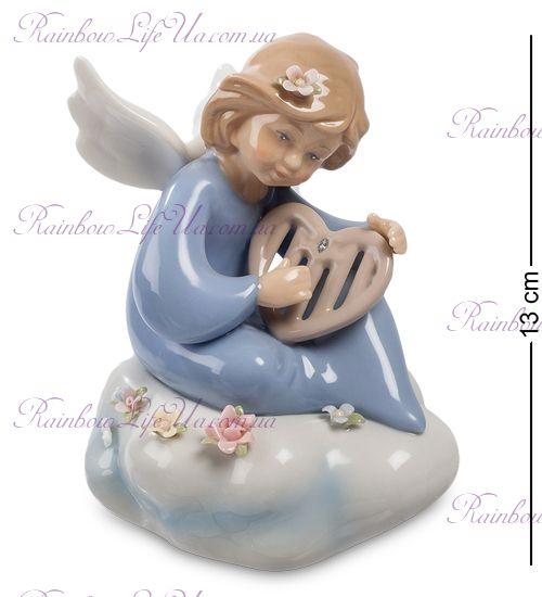 "Фигурка музыкальная ангел с флейтой - сердце ""Pavone"""