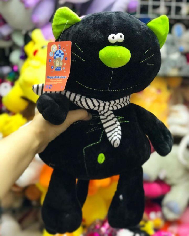 Кот с шарфом мягкая игрушка