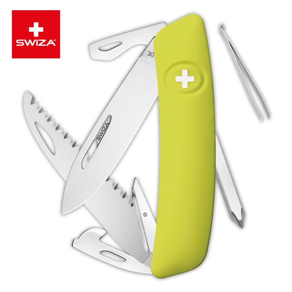 Швейцарский нож SWIZA D06 Standard, 95 мм, 12 функций, салатовый