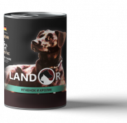 LANDOR Senior Dog All Breed: Lamb & Rabbit Консерва для пожилых собак с ягненком и кроликом, 400 гр