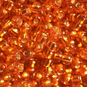 Бисер чешский 97000 прозрачный оранжевый серебряная линия внутри Preciosa 1 сорт купить оптом