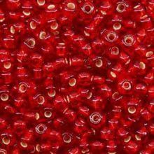 Бисер чешский 97070 прозрачный ярко-красный серебряная линия внутри Preciosa 1 сорт