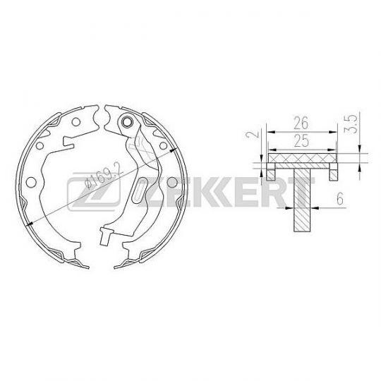 Колодки ручного тормоза Lacceti/Gentra BK4051 Zekkert