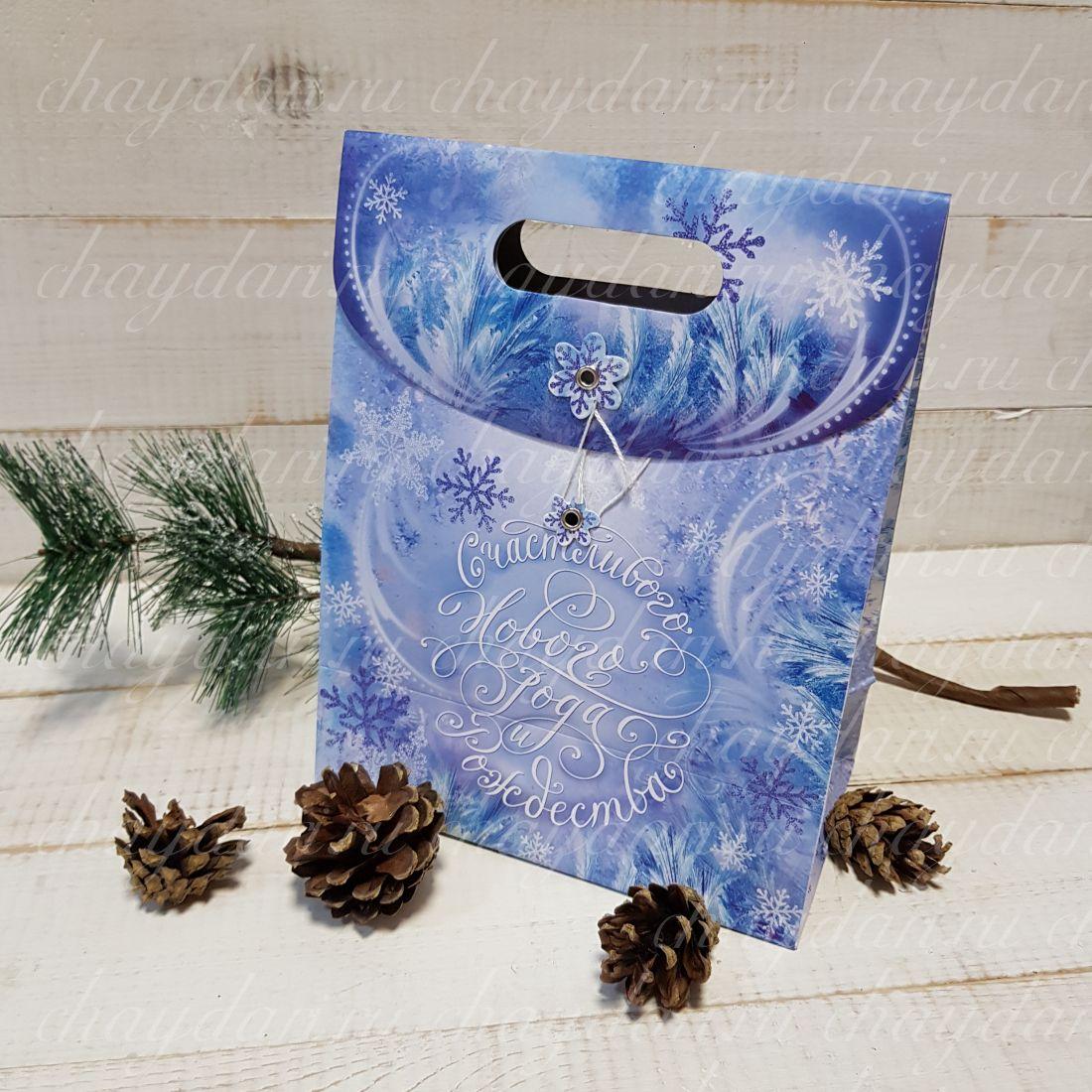 """Коробка с чаем и медом """"С Новым годом и Рождеством"""""""