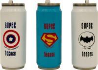 Термобанка с трубочкой Steel Super Heroes 400 мл