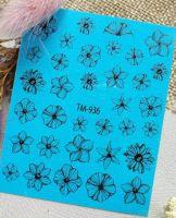 Слайдер-дизайн «Цветы» TM - 936 Dream Nails (водные наклейки)