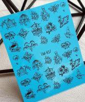 Слайдер-дизайн «Цветы» TM - 937 Dream Nails (водные наклейки)