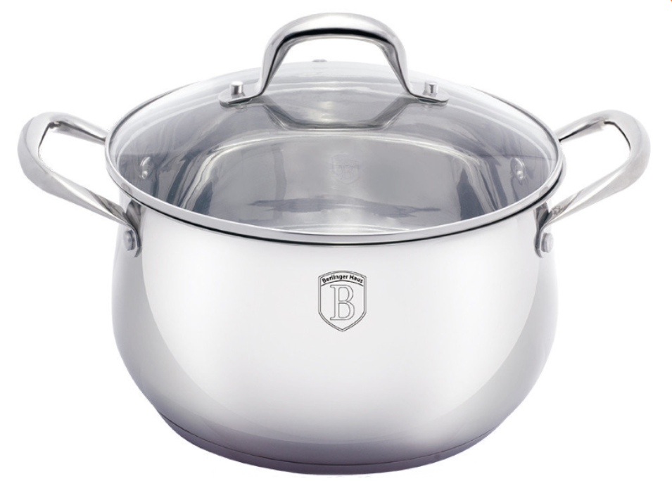 Кастрюля Berlinger Haus Silver Belly Collection BH-1421 - 8 л (26 см)