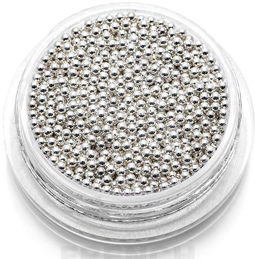 Бульонки металлические для дизайна (серебро) 1.2 в баночке