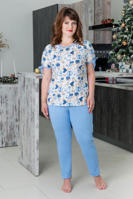 Костюм арт.0749-16 голубой (футболка+брюки)