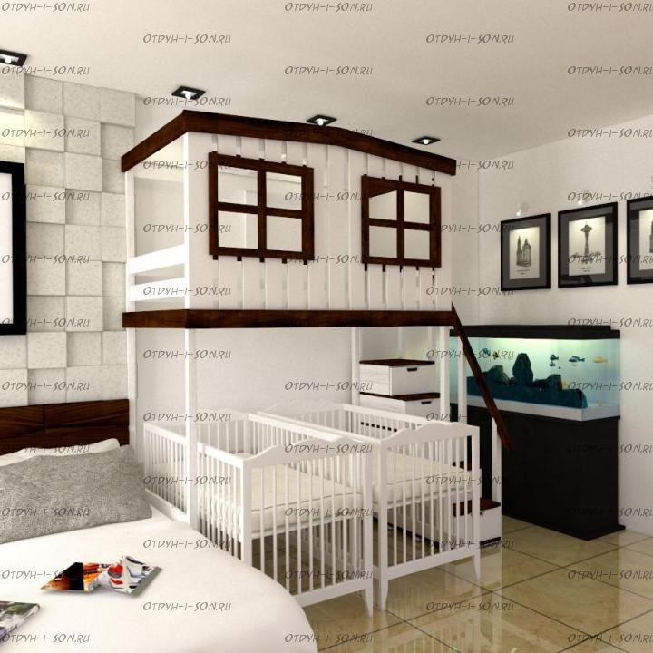 Кровать-чердак Домик Factory №23