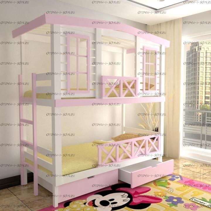 Кровать двухъярусная Домик Roof №27