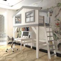 Кровать-чердак Домик Factory №27
