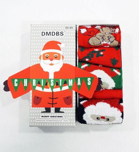 """Носки женские """" Новогодние"""" в подарочной упаковке №1520"""