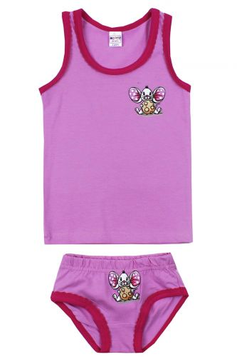 """Комплект белья для девочек Bonito kids 2-6 лет """"Мышонок"""" пурпурный"""