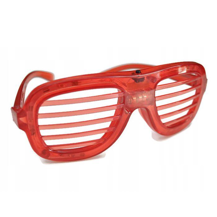 Светодиодные Светящиеся Очки Led El, Цвет Красный