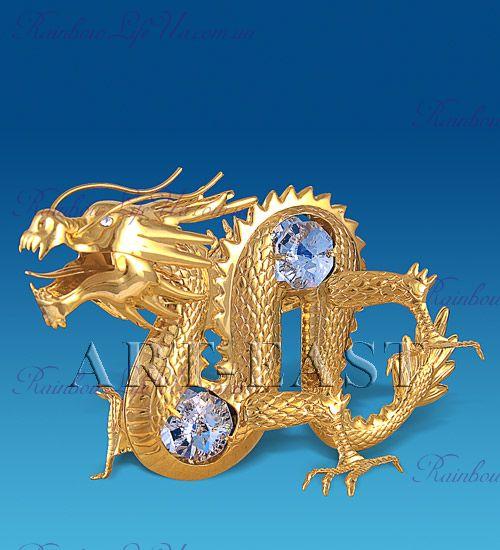 "Фигурка дракон с камнями ""Swarovski"""