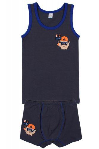 """Комплект белья для мальчика Bonito kids 7-11 лет """"Cool Dude"""" темно-серый"""