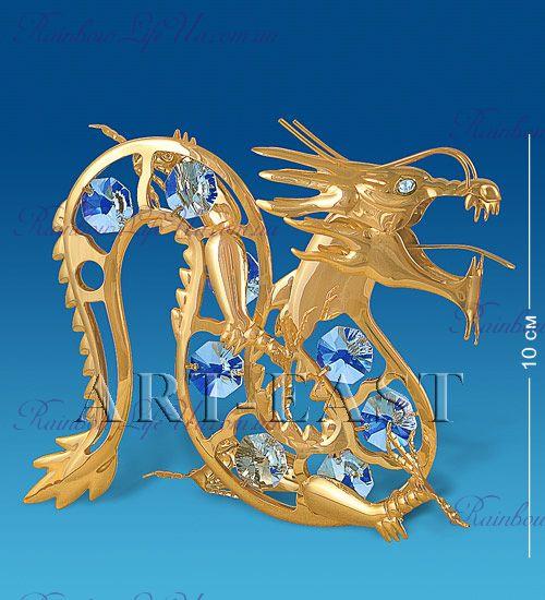 "Статуэтка дракон с камнями ""Swarovski"""