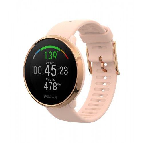 Часы с пульсометром на запястье и встроенным датчиком GPS Polar Ignite Pink/Rose