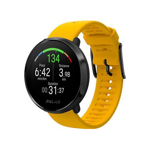 Часы с пульсометром на запястье и встроенным датчиком GPS Polar Ignite Yellow