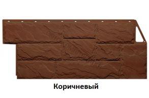 """Панель """"Камень """"крупный"""" (1080*452)  (0,42м) ( Мелованный белый , Коричневый)"""
