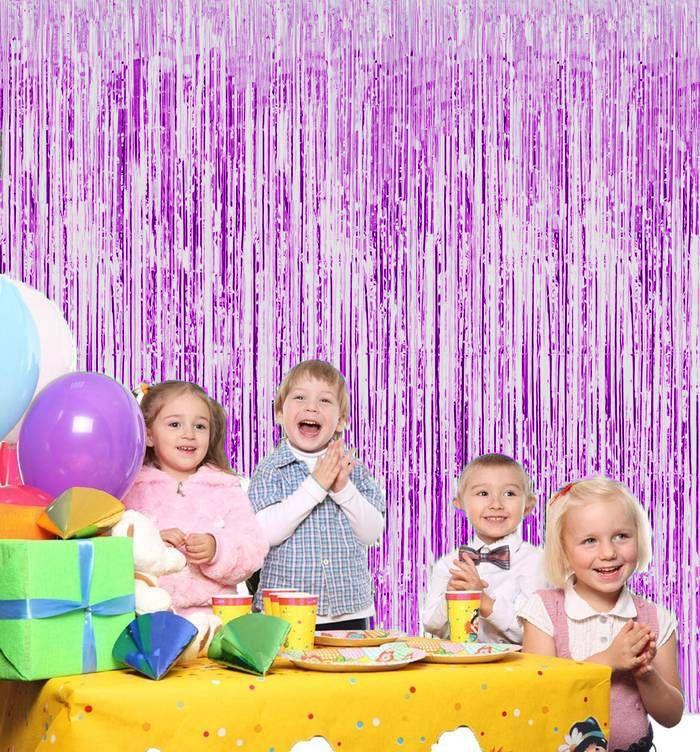 Новогодний Дождик Штора, Цвет Фиолетовый