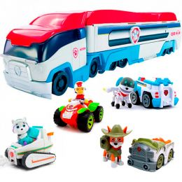 Автовоз с Райдером на квадроцикле + 3 щенка (Эверест, Трекер, Робопес) Щенячий патруль