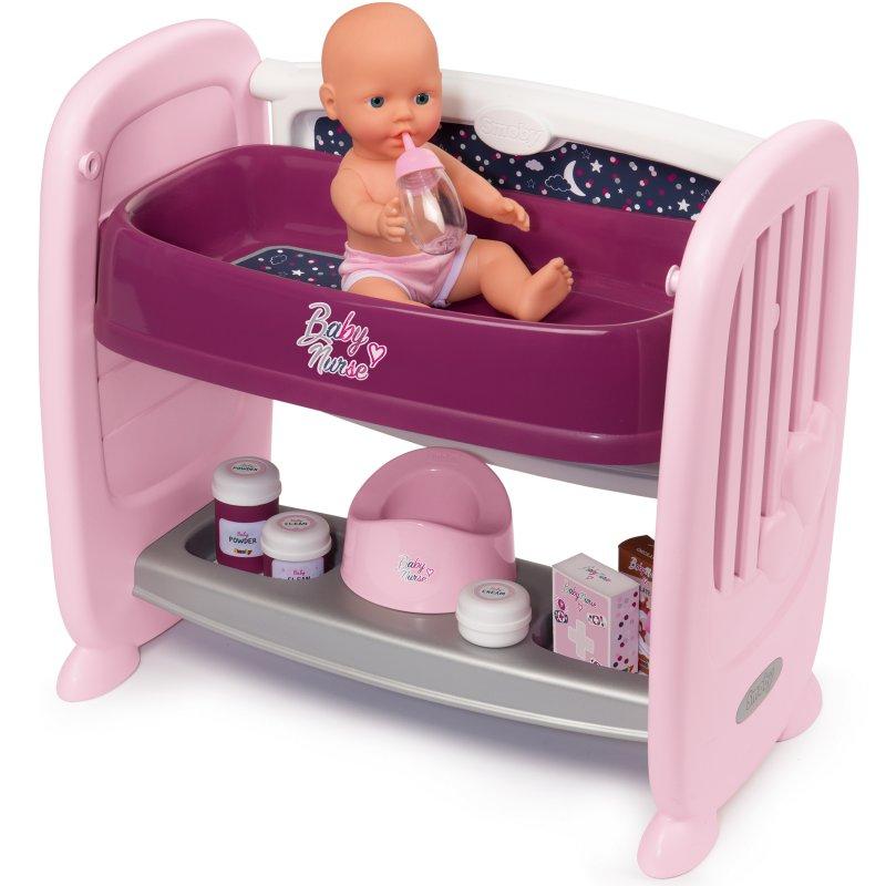 Интерактивная кроватка для куклы Smoby 220353
