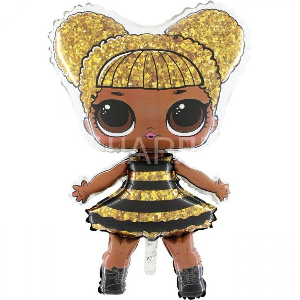 """Шар фигура """"Кукла ЛОЛ королева-пчелка"""""""