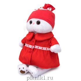 Кошечка Ли-Ли в красном пальто 27 см