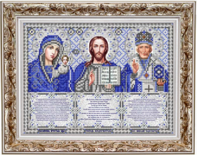 ИС-4062 Славяночка. Триптих с молитвами в серебре. А4 (набор 725 рублей)