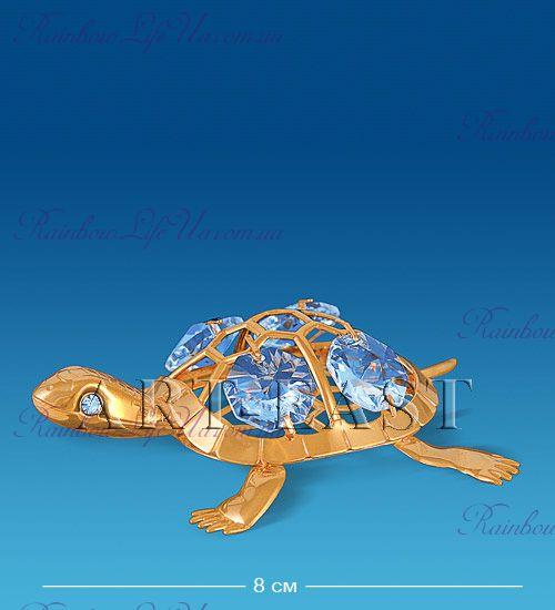 """Статуэтка черепашка с камнями """"Swarovski"""""""