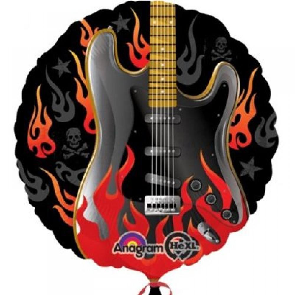 Рок Гитара шар фольгированный с гелием