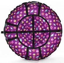 Тюбинг Hubster Люкс Pro Совята фиолетовые 100 см