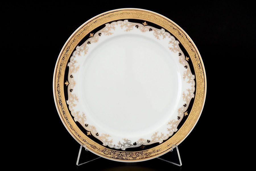 "Набор тарелок 19 см ""Кристина Черная Лилия"", 6 шт."