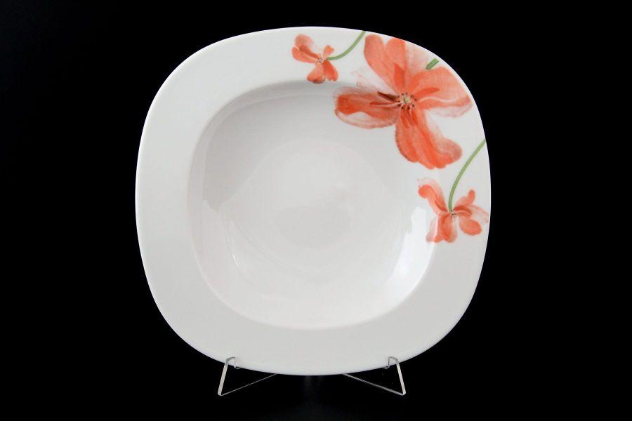 """Набор тарелок глубоких 23 см """"Леон Красные маки"""", 6 шт."""