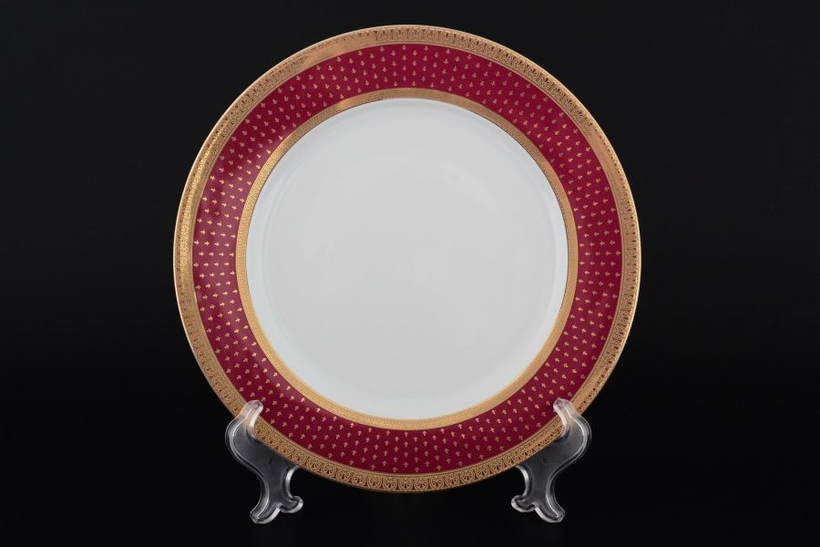 """Набор тарелок 25 см """"Луиза Мантия Бордо"""", 6 шт."""