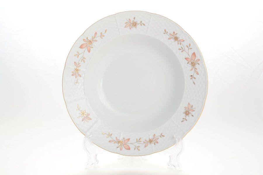 "Набор тарелок глубоких 23 см ""Луиза Мантия голубая"", 6 шт."