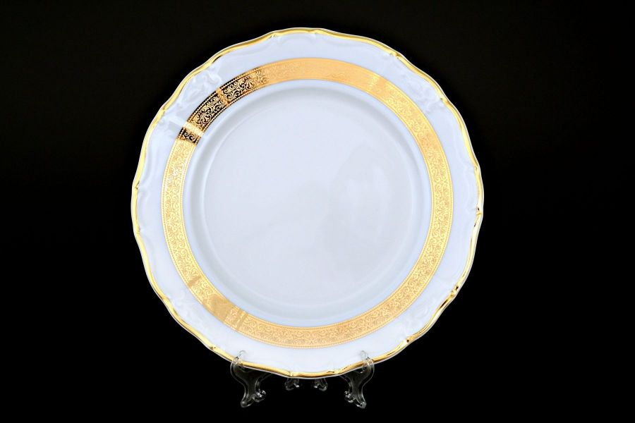 "Набор тарелок 25 см ""Мария Луиза Золотая лента"", 6 шт."