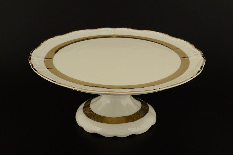 """Тарелка для торта на ножке 32 см """"Мария Луиза IVORY"""""""