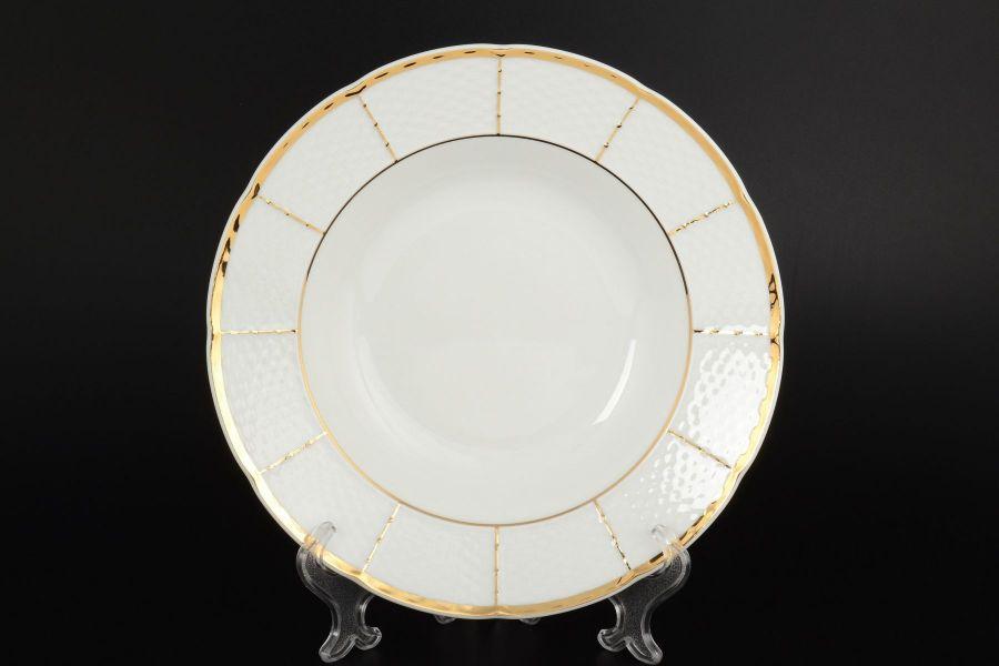 """Набор тарелок глубоких 23 см """"Менуэт Обводка золото"""", 6 шт."""