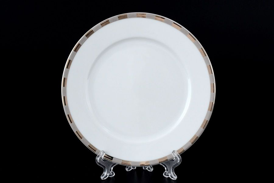 "Набор тарелок 17 см ""Опал Платиновые пластинки"", 6 шт."